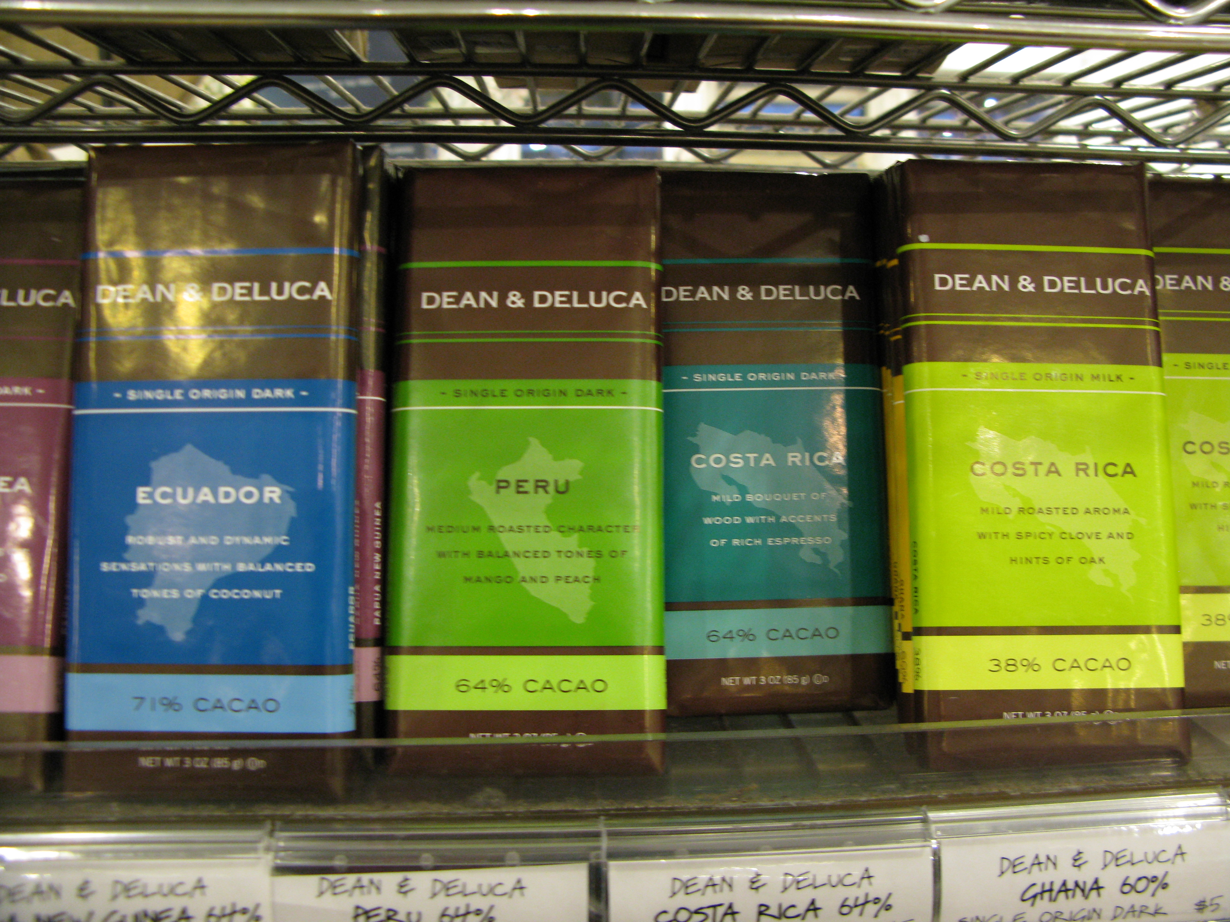 Dean & Deluca Origin Chocolates