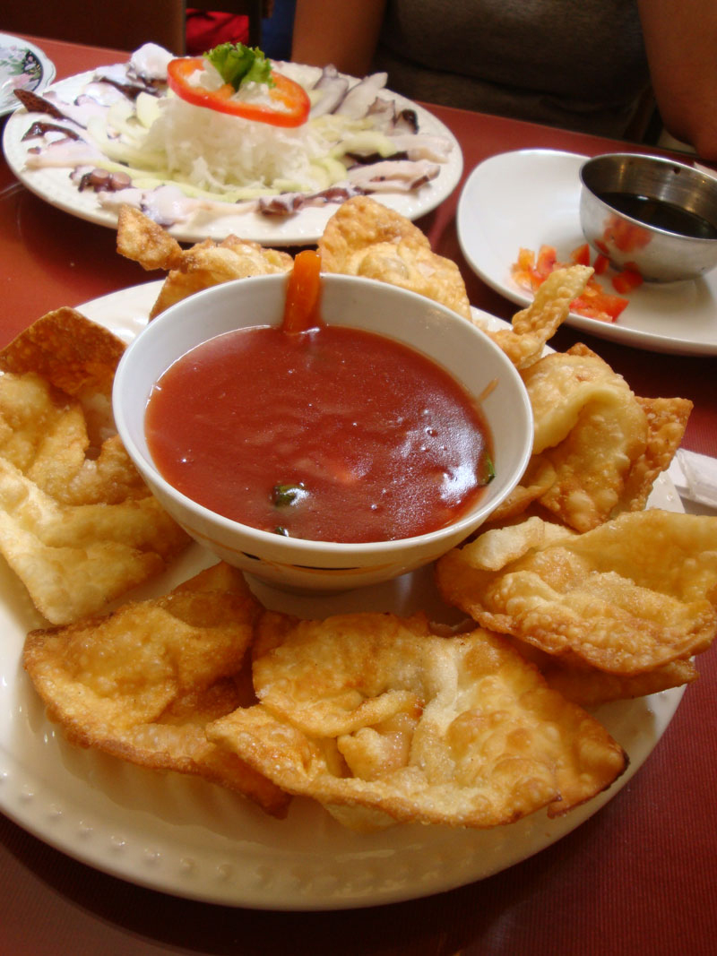 Wantán de Langostinos (Shrimp Wantáns)