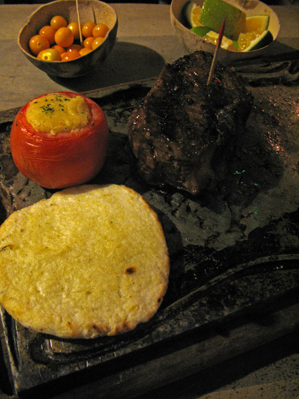 Bife de Chorizo at Andrs Carne de Res in Bogot, Colombia