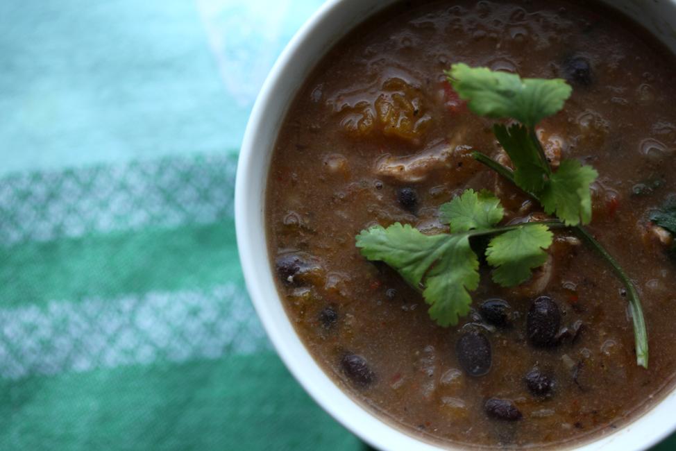 West Indian Calabaza, Chicken, & Black Bean Stew